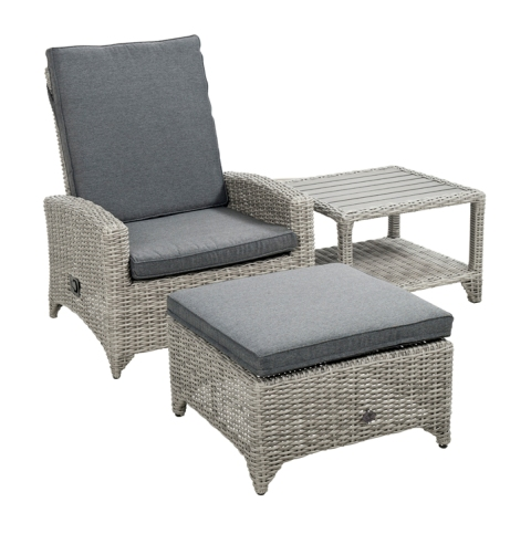 Adelaide verstelbare loungefauteuil cloudy grey
