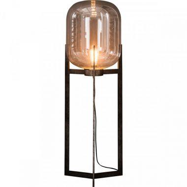 Glazen kap vloerlamp