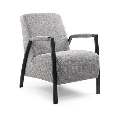 Zanzibar fauteuil zwart frame